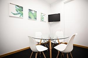 sala de reuniones privada